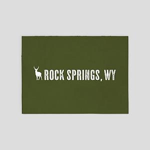 Deer: Rock Springs, Wyoming 5'x7'Area Rug