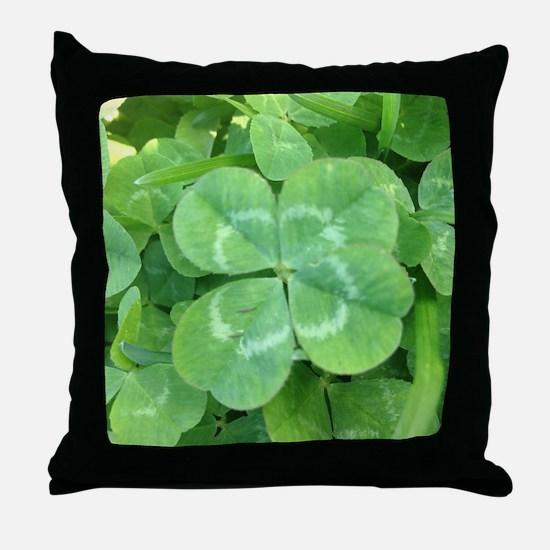 Unique Clover Throw Pillow
