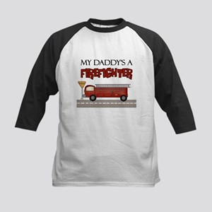 Daddys A Firefighter Kids Baseball Jersey
