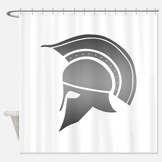 Ancient Greek Spartan Helmet Shower Curtain