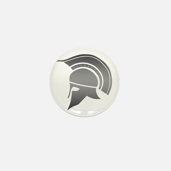 Ancient Greek Spartan Helmet Mini Button