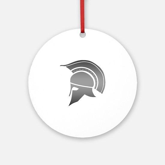 Ancient Greek Spartan Helmet Round Ornament