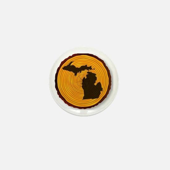 Unique Michigan state Mini Button