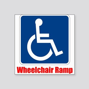 Handicapped Wheelchair Ramp Sticker