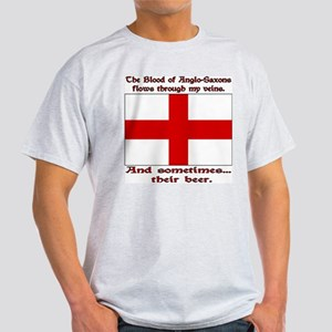Anglo-Saxon Blood and Beer Ash Grey T-Shirt