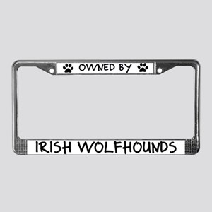 Owned by Irish Wolfhounds License Plate Frame