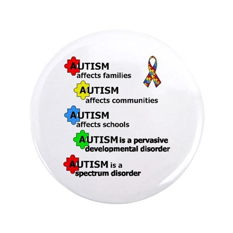 """AUTISM AFFECTS"" 3.5"" Button (100 pack)"