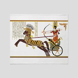 Ancient Egypt art Throw Blanket