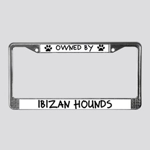 Owned by Ibizan Hounds License Plate Frame