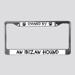 Owned by an Ibizan Hound License Plate Frame