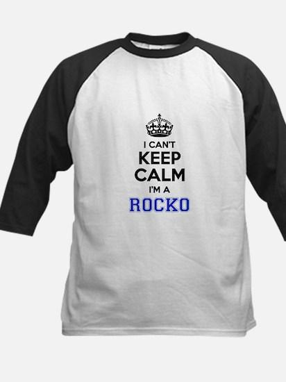 I can't keep calm Im ROCKO Baseball Jersey