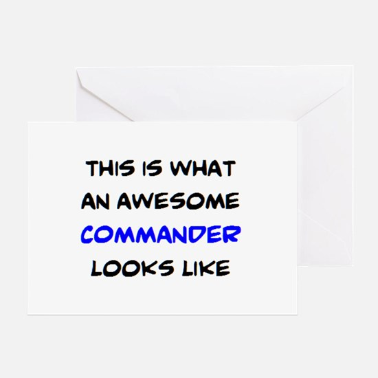 awesome commander Greeting Card