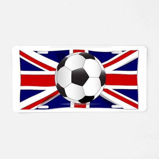 Cute English football Aluminum License Plate