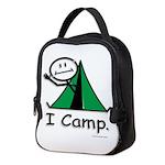 Camping Stick Figure Neoprene Lunch Bag