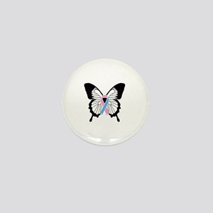 Butterfly with Pregnancy and Infant Lo Mini Button