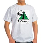 Camping Stick Figure Light T-Shirt