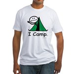 Camping Stick Figure Fitted T-Shirt