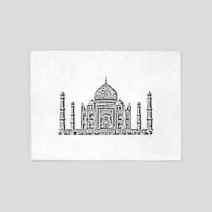 Taj Mahal design art 5'x7'Area Rug