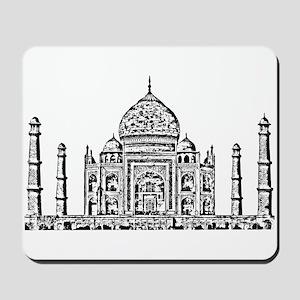 Taj Mahal design art Mousepad
