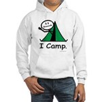 Camping Stick Figure Hooded Sweatshirt
