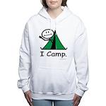 Camping Stick Figure Women's Hooded Sweatshirt