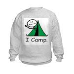Camping Stick Figure Kids Sweatshirt
