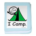 Camping Stick Figure baby blanket