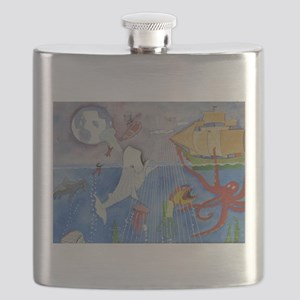 Moby dick &friends Flask