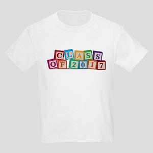 Class of 2017 Blocks Kids Light T-Shirt