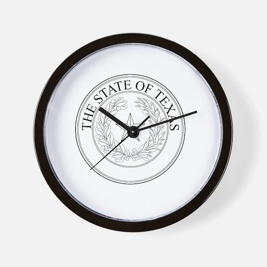 Cute Texas seal Wall Clock