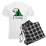 Camping Stick Figure Men's Light Pajamas