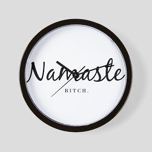 Namaste. Bitch. (Lights) Wall Clock
