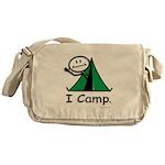 Camping Stick Figure Messenger Bag