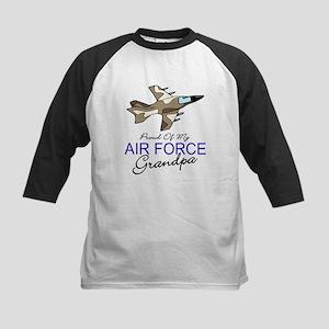 Air Force Grandpa Kids Baseball Jersey
