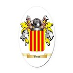 Varas Oval Car Magnet