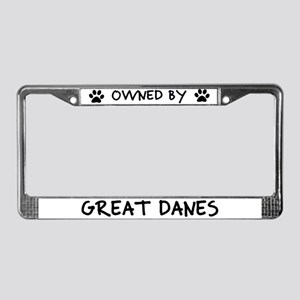 Owned by Great Danes License Plate Frame