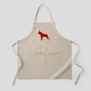 Boston Terrier Red 1 Apron