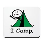 Camping Stick Figure Mousepad