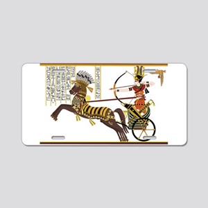 Ramses ii in the battle of Aluminum License Plate