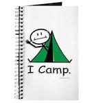 Camping Stick Figure Journal