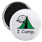 Camping Stick Figure Magnet