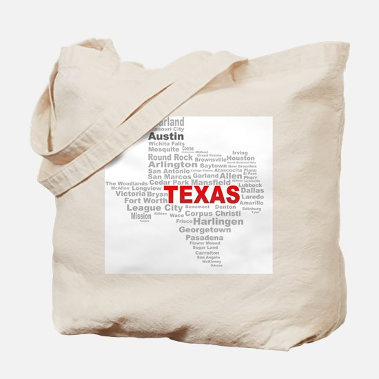 Cute Texas state outline Tote Bag