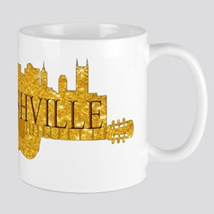 Nashville Skyline Guitar-02 Mugs