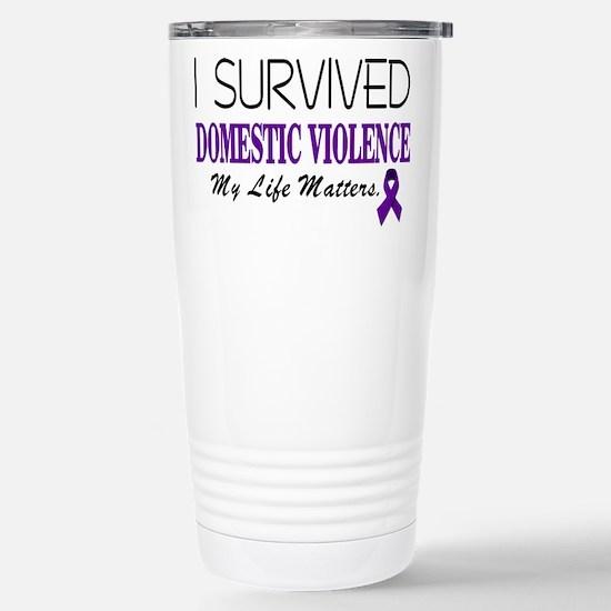 I Survived Domestic Violence-01 Travel Mug