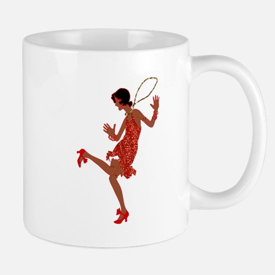 red sequin black flapper Mugs