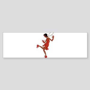 red sequin black flapper Bumper Sticker