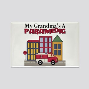 My Grandma's A Paramedic Rectangle Magnet