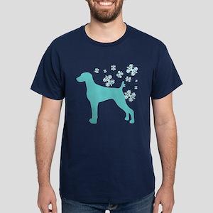 Weimaraner Snowflake Dark T-Shirt