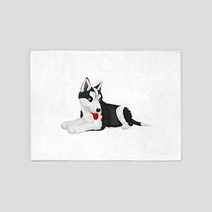 Cute dog art 5'x7'Area Rug