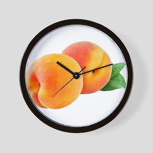 Digital peaches Wall Clock